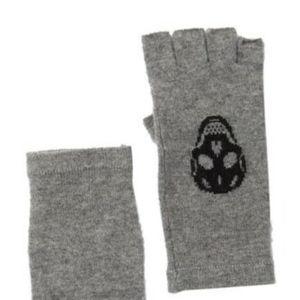 $127 SKULL CASHMERE Fingerless Skull Gloves